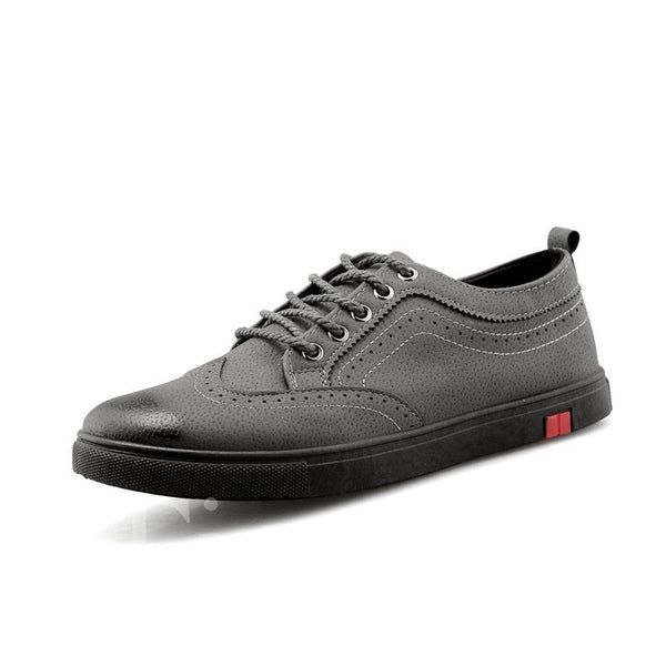 Round Toe Lace-Up Low-Cut Upper Men's Skater Shoes