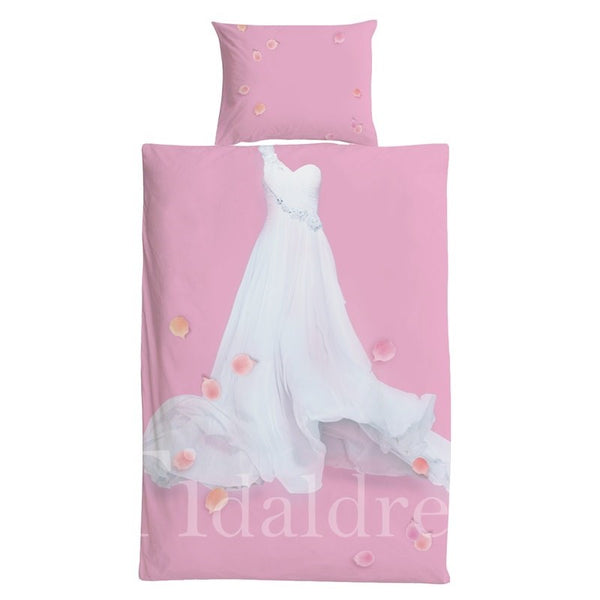 Dress Pattern 3 Pieces Girl Bedding Sets
