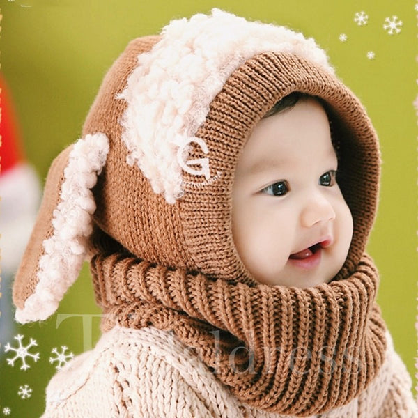 Cute Dog Shap Warm Baby Acrylic Fiber Hat