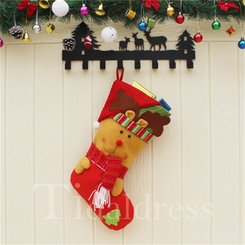 Non-Woven Fabric Red Christmas Stocking