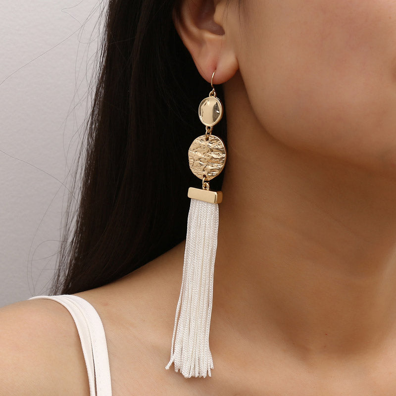 Tassel Design Bohemian Pierced Tassel Earrings