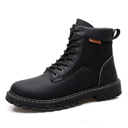 Lace-Up Front Sewing Patchwork Men's Boots
