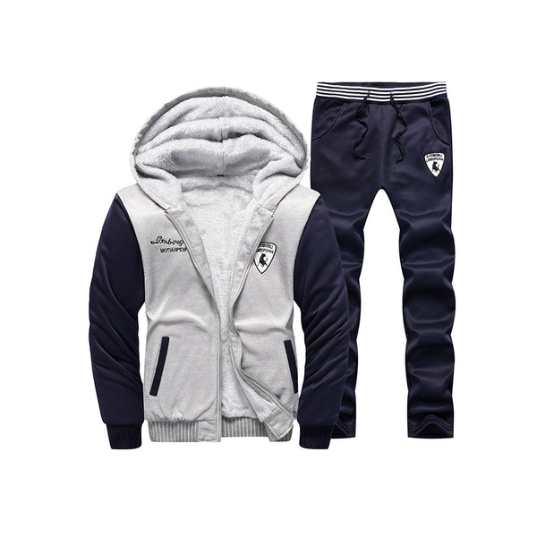 Embroidery Zipper Sports Style Men's Suit