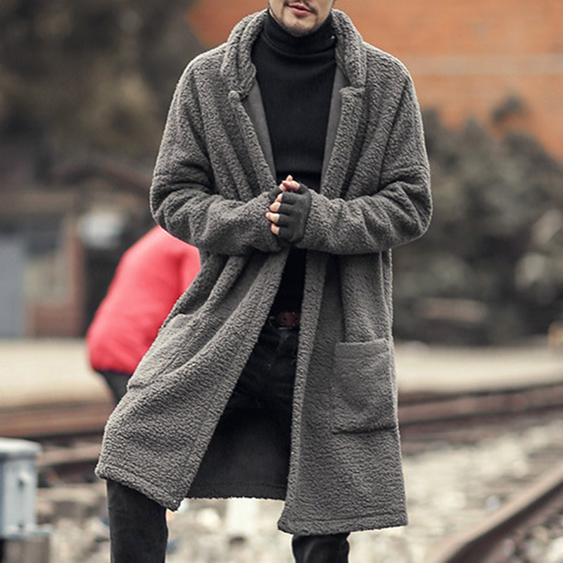 European Plain Mid-Length Men's Coats