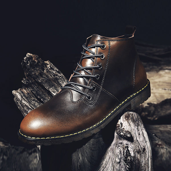 Lace-Up Front Round Toe Martin Boots