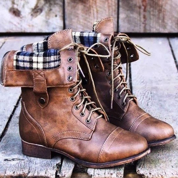 Fashion Versatile Tie Women's Boots