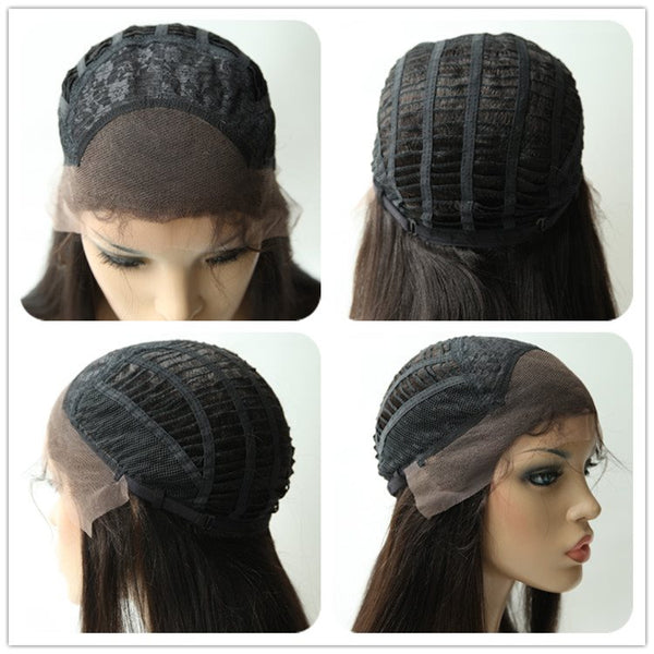 Lace Front Cap Straight Human Hair 120% Wigs