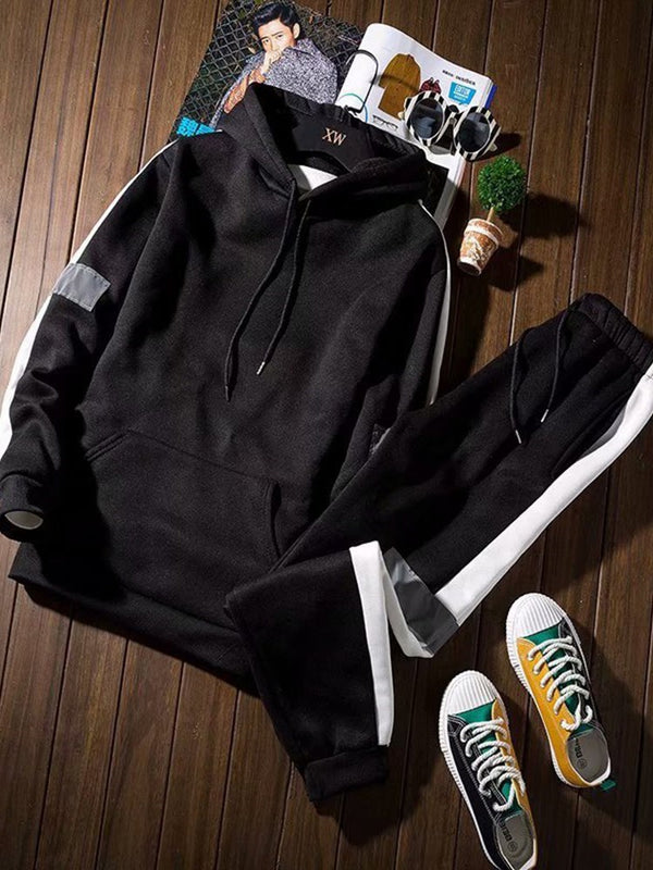 Patchwork Sports Pants Spring Outfit