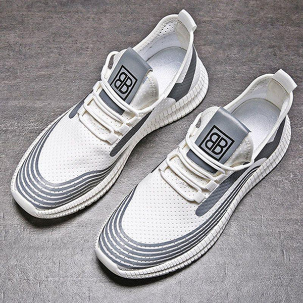 Sports Slip-On Low-Cut Upper Mesh Lace-Up Sneakers