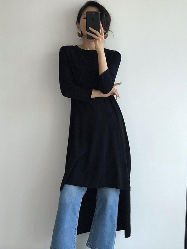 Regular Loose Three-Quarter Sleeve Sweater