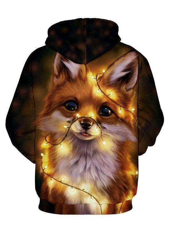 Print Pullover Animal Pullover Hooded Hoodies