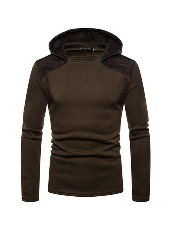 Pullover Color Block Casual Hooded Hoodies