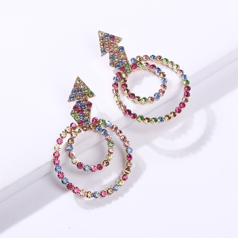 European Diamante Alloy Birthday Earrings