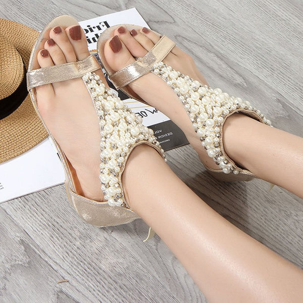 Open Toe Zipper Heel Covering Block Heel Sweet Plain Sandals
