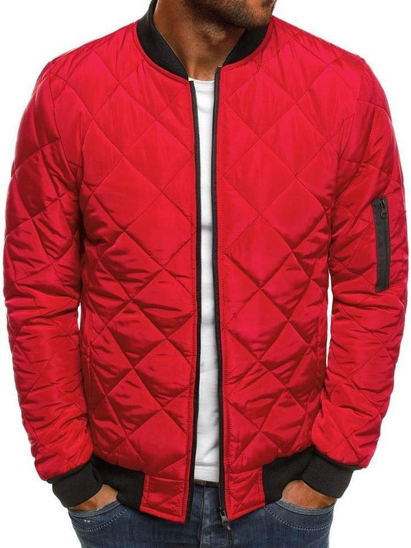 Standard Zipper Stand Collar Casual Zipper Down Jacket