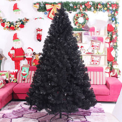 Black Artificial Christmas Tree Holiday Indoor Plastic Stand Base Xmas Home New