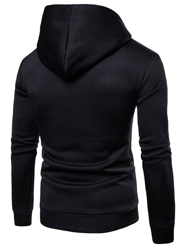 Plain Zipper Pullover Casual Pullover Hoodies