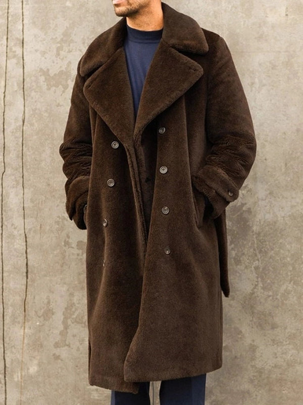 Pocket Long Plain A Line Fall Coat