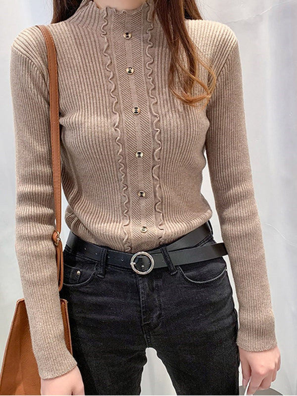 Button Regular Standard Slim Sweater