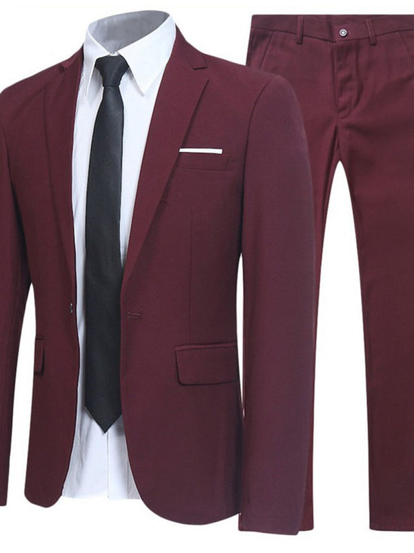 Blazer Formal Plain Dress Suit