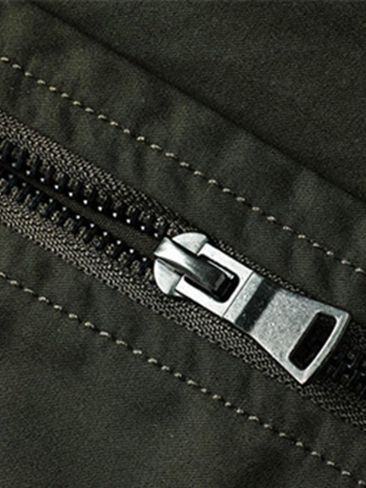 Thick Stand Collar Patchwork Zipper European Jacket