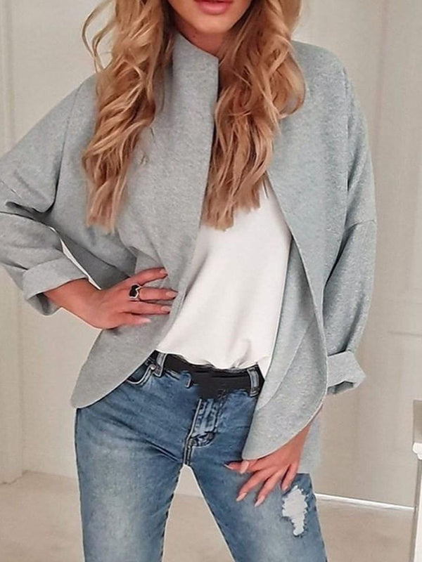 Cardigan Loose Long Sleeve Fall Mid-Length Jacket