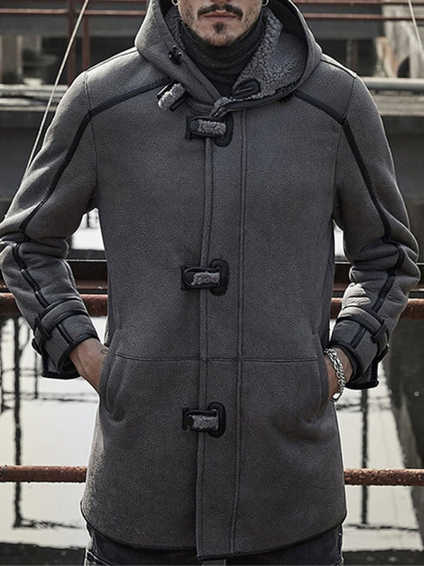Hooded Color Block Thick Loose Winter Jacket