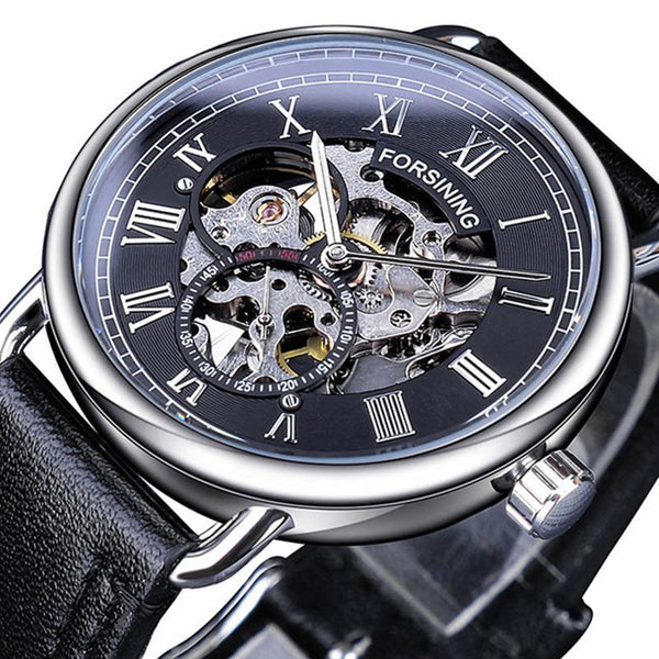 Mechanical Hand Wind Plastic Round Watches