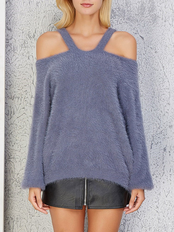 Flocking Thick Fall Long Sleeve Sweater