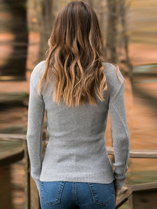Thin Regular Slim Long Sleeve Sweater