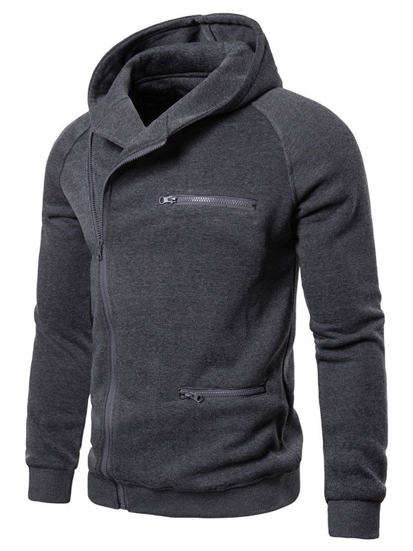 Zipper Cardigan Plain Hooded Zipper Hoodies