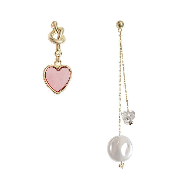 Heart-Shaped E-Plating Korean Prom Earrings