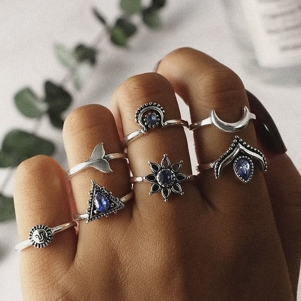 Alloy Bohemian E-Plating Prom Rings