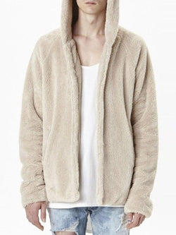 Standard Hooded Plain Straight Spring Coat