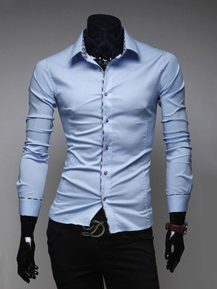 Button Casual Lapel Single-Breasted Fall Shirt