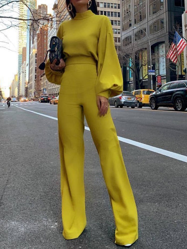 Plain Full Length Fashion Slim Jumpsuit