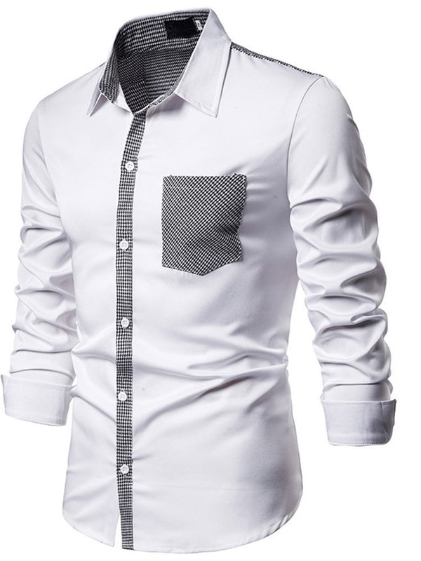 Pocket Lapel Casual Fall Slim Shirt