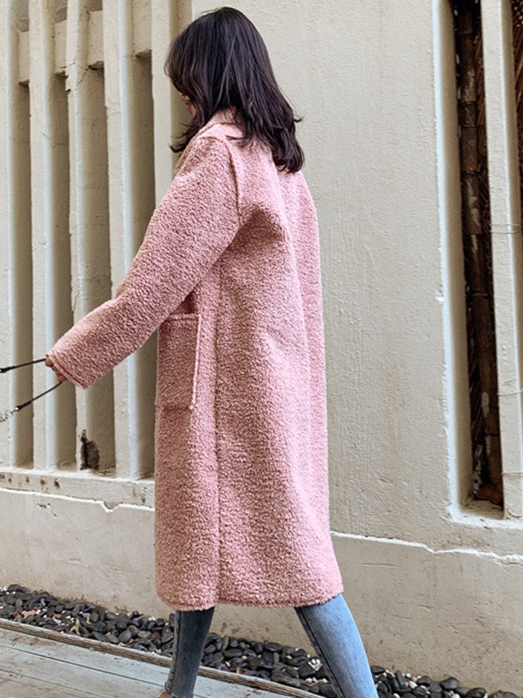 Regular Loose Double-Breasted Winter Long Overcoat