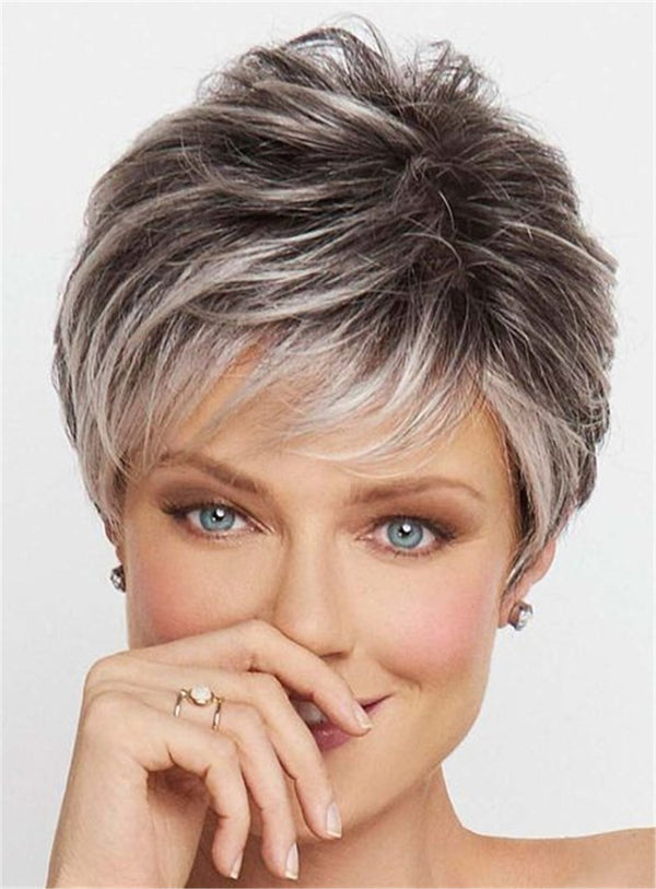 Women Capless Straight Synthetic Hair Short Wigs