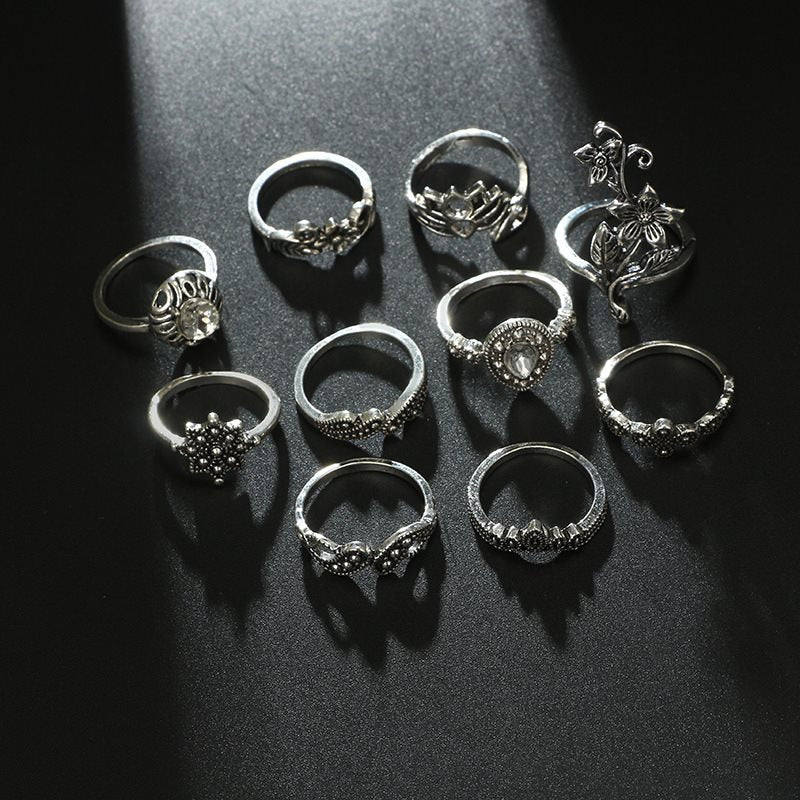 E-Plating Alloy European Holiday Rings