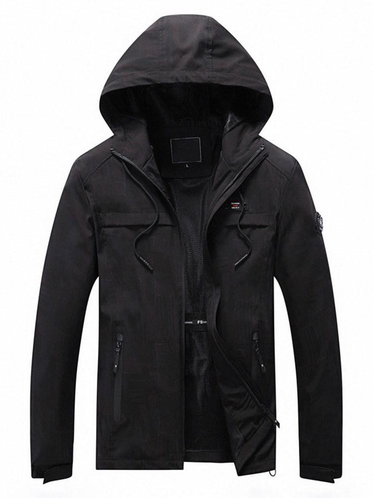 Plain Thick Zipper Winter European Jacket