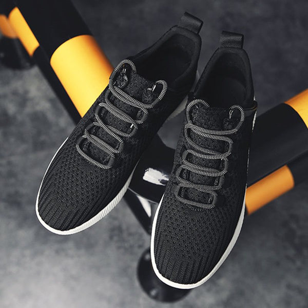 Low-Cut Upper Sports Lace-Up Round Toe Mesh Sneakers