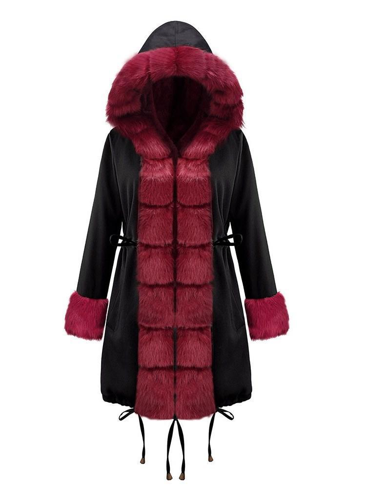 Thick Loose Zipper Mid-Length Cotton Padded Jacket