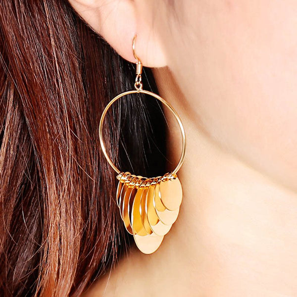 Bronze European Plain Prom Earrings