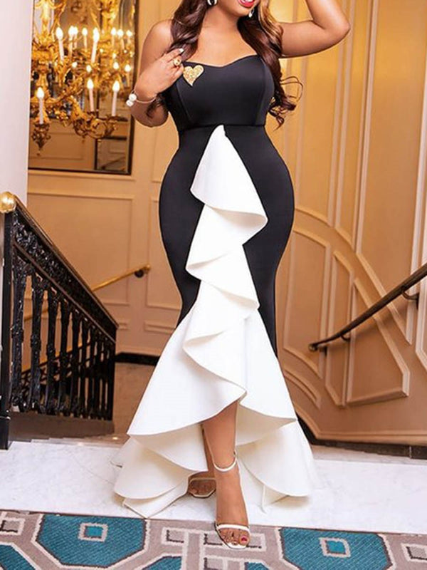 Sleeveless Floor-Length Asymmetric Pullover Asymmetrical Dress