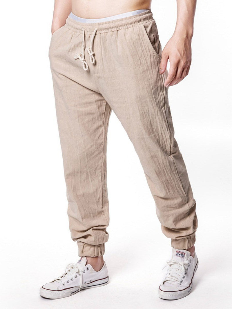 Plain Summer Mid Waist Casual Pants