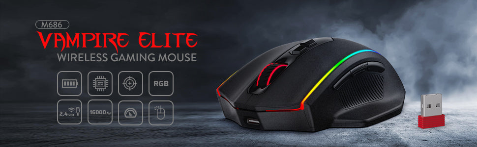 wirless gaming mouse redragon