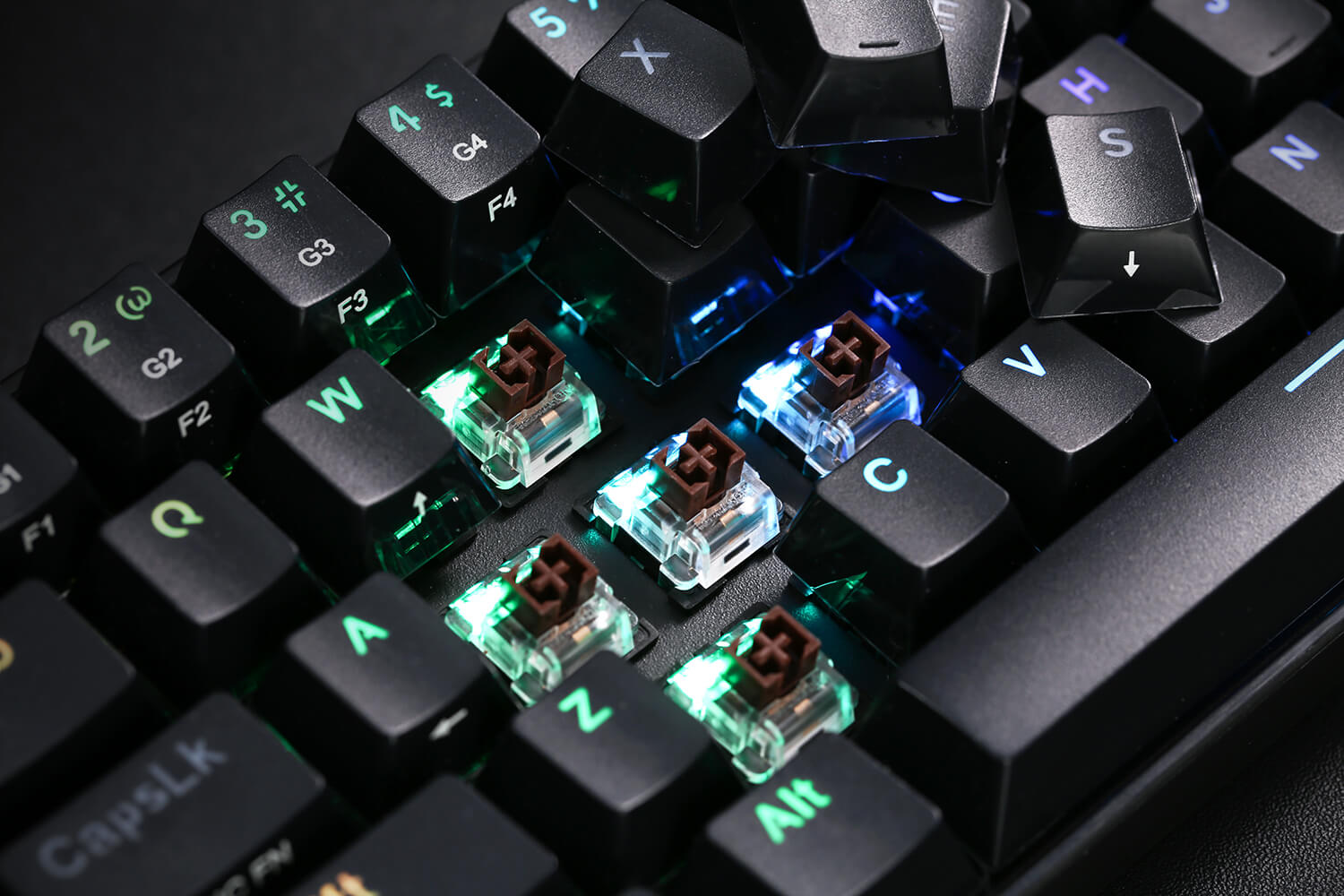 5.0 Bluetooth Gaming Keyboard with Tactile Brown Switches and 16.8 Million RGB Lighting for PC, Tablet, Cell Phone
