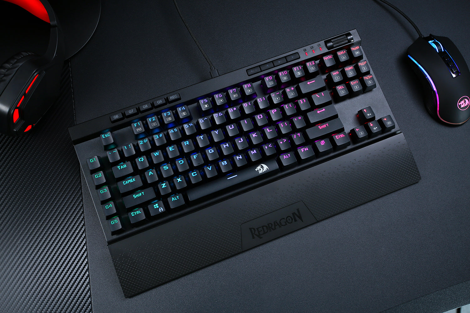 Redragon K587-PRO 87 Keys Compact RGB TKL Mechanical Gaming Keyboard
