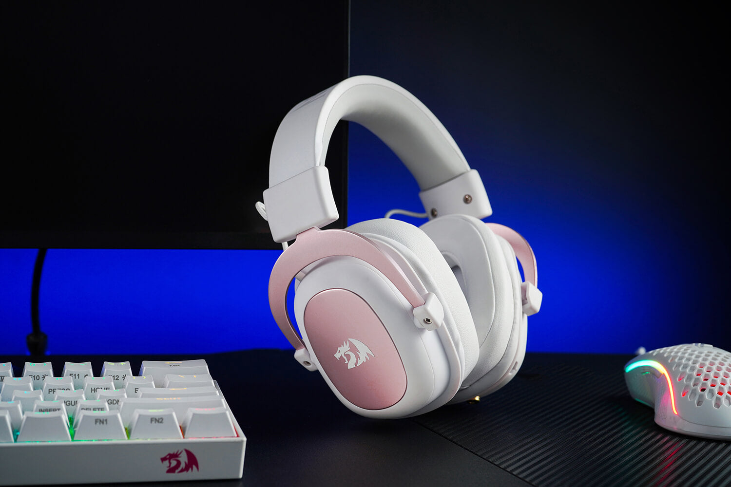 redragon white and pink gaming headset 4